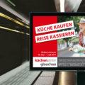 Gestaltung Großflächenplakat 18/1 für Werbekampagne Küchenatelier Glauchau