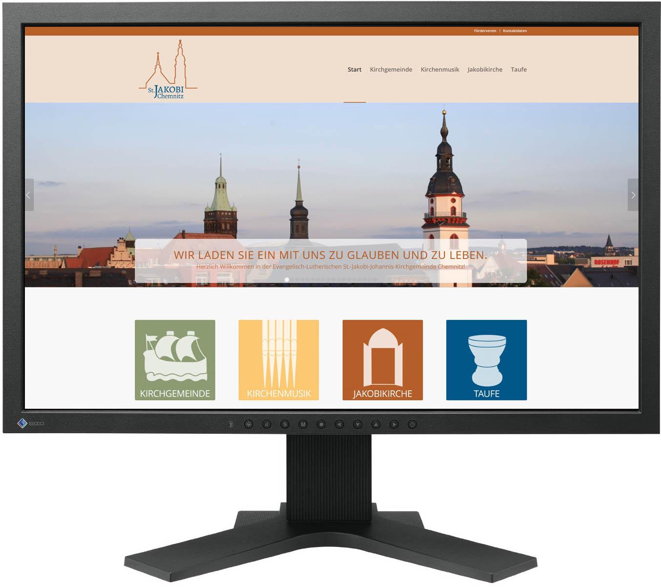 Gestaltung Website / Homepage für Ev.-Luth. Jakobikirche Chemnitz