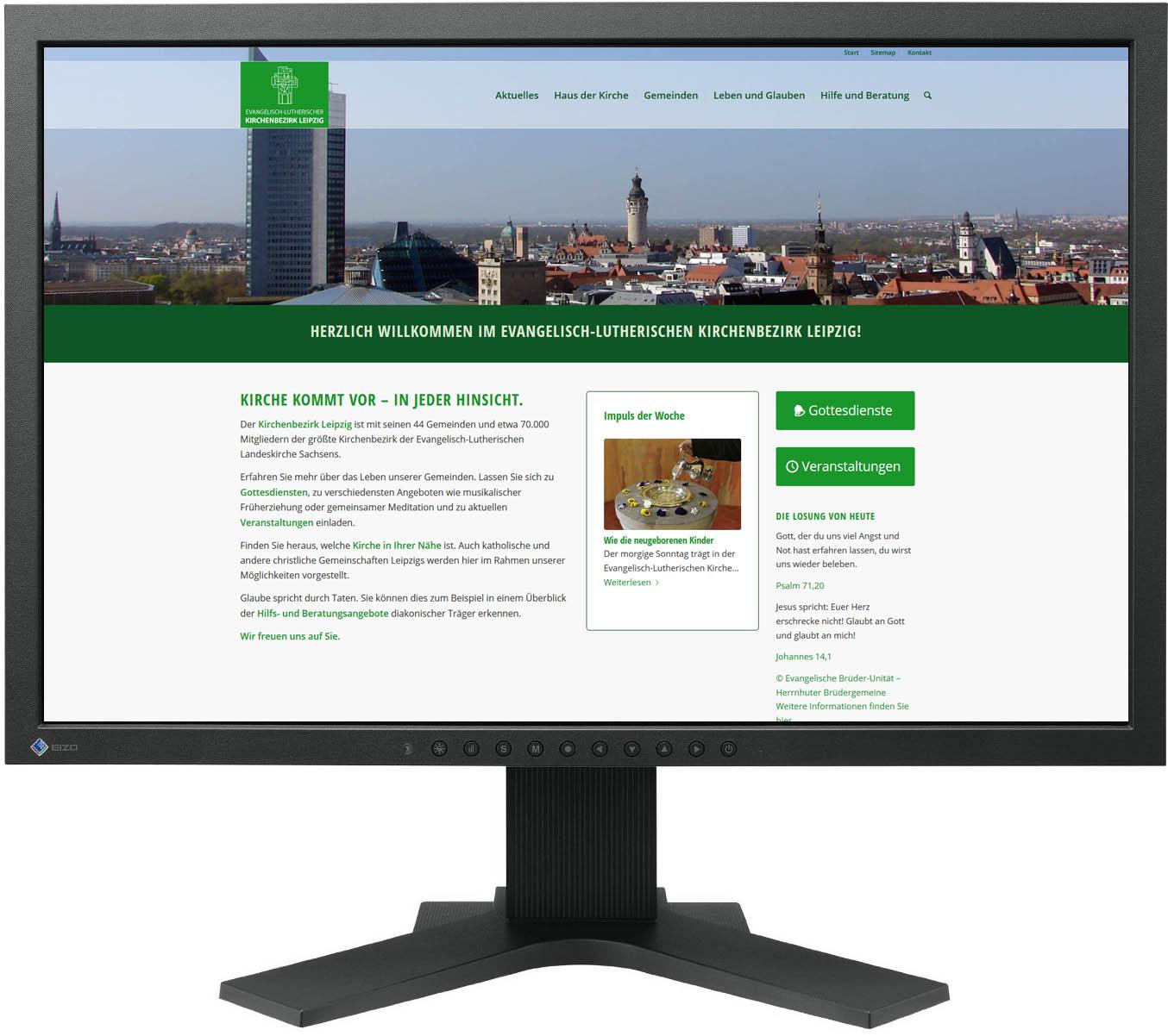 Gestaltung Website / Homepage für Ev.-Luth. Kirchenbezirk Leipzig