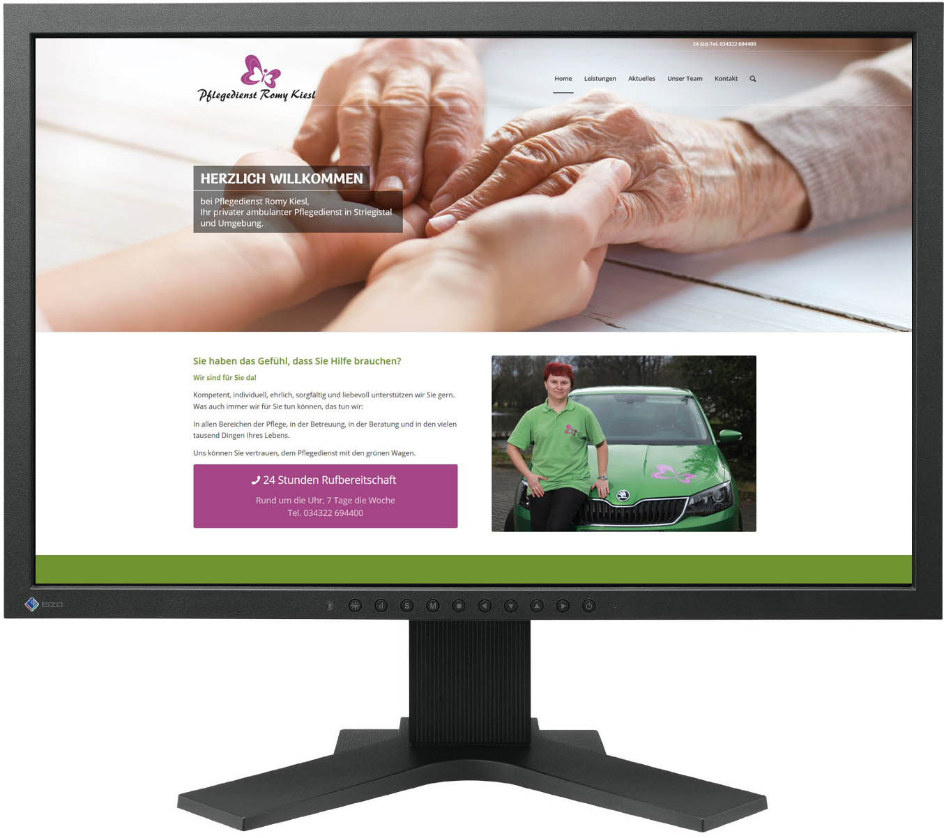 Gestaltung Website / Homepage für Pflegedienst Kiesl, Etzdorf