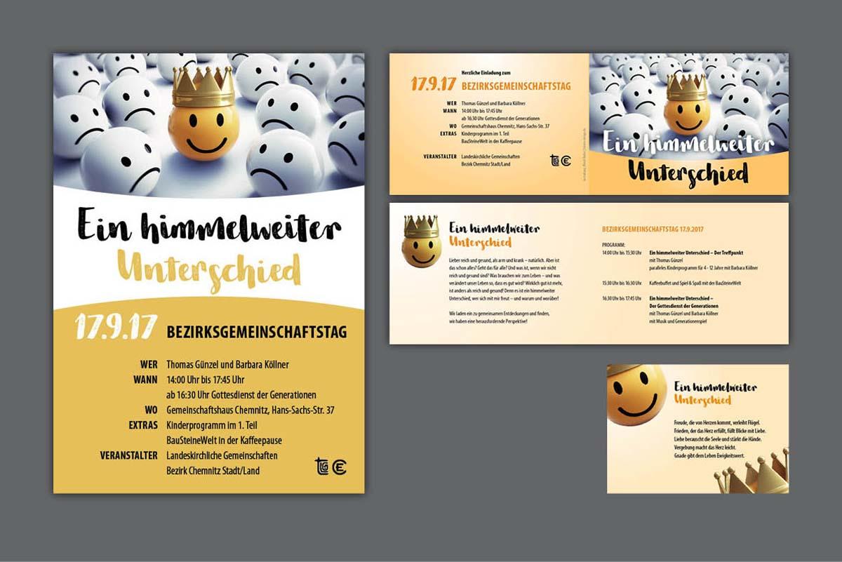 Gestaltung Gestaltung und Druck Plakate, Flyer und Karten für Bezirksgemeinschaftstagund Druck Plakate, Flyer und Karten für Bezirksgemeinschaftstag