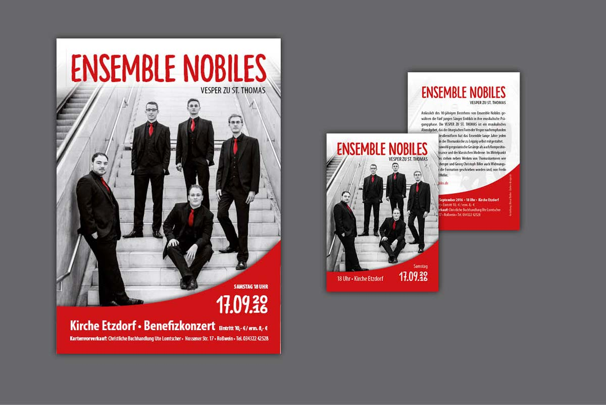 Gestaltung und Druck Plakate Konzert Marienkirchgemeinde