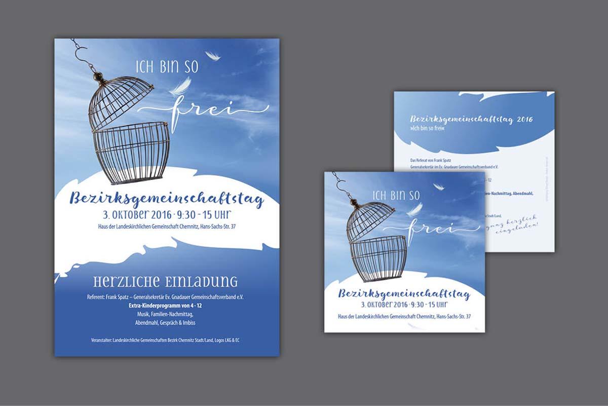 Gestaltung und Druck Plakate und Flyer Bezirksgemeinschaftstag