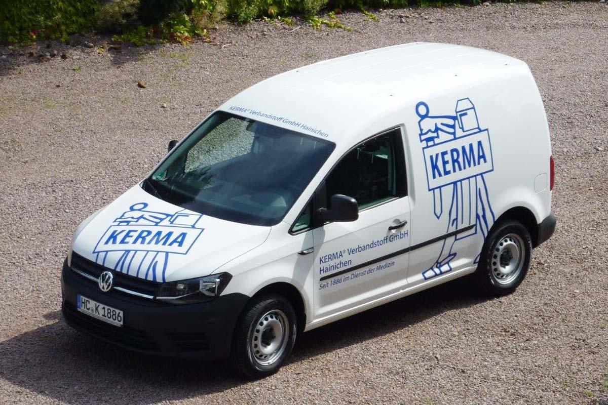 Fahrzeugbeschriftung für KERMA Verbandstoff GmbH Hainichen