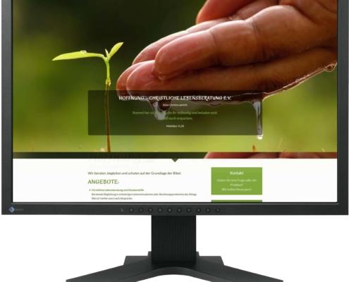 Gestaltung Website / Homepage für Verein Hoffnung, Christliche Lebensberatung e.V.
