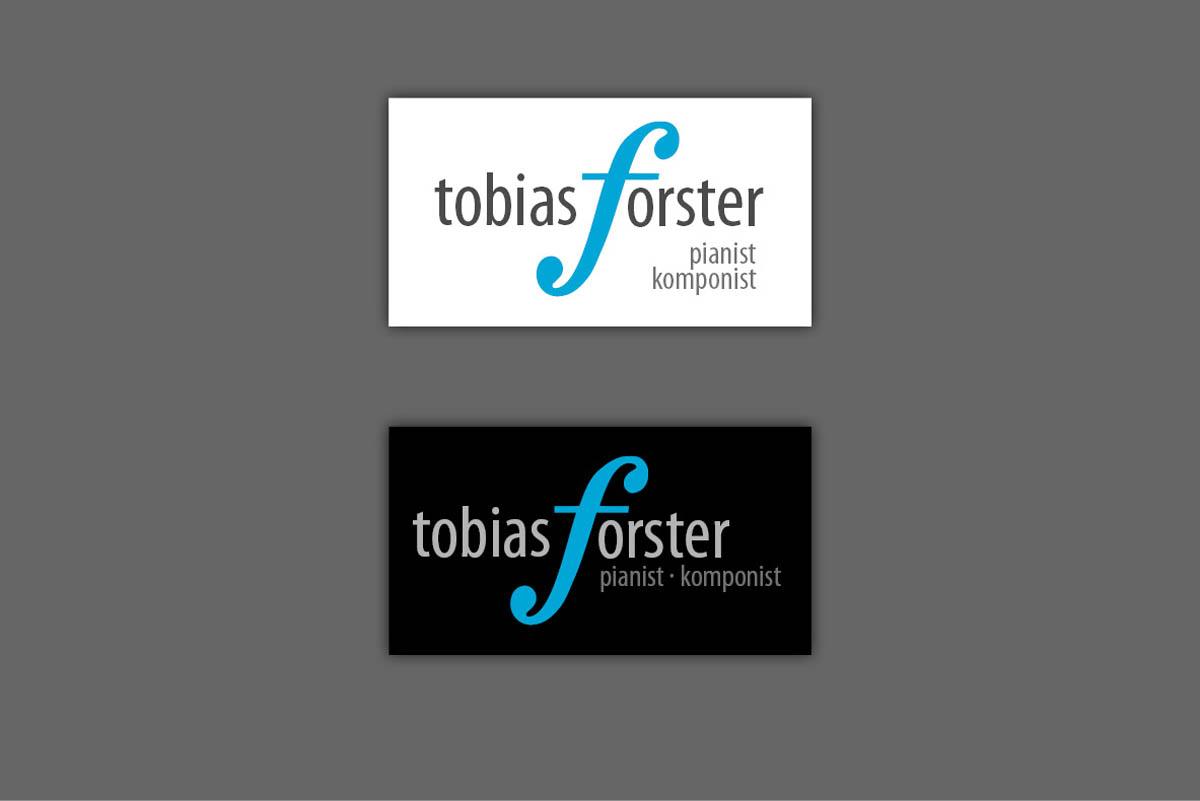 Gestaltung Logo für Pianist Tobias Forster, Dresden