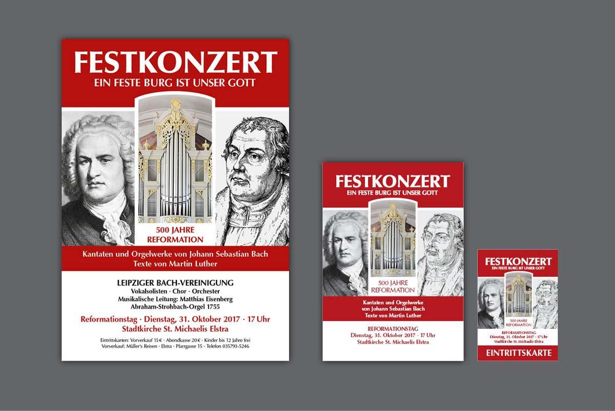 Konzertplakat, Flyer für Organist Matthias Eisenberg