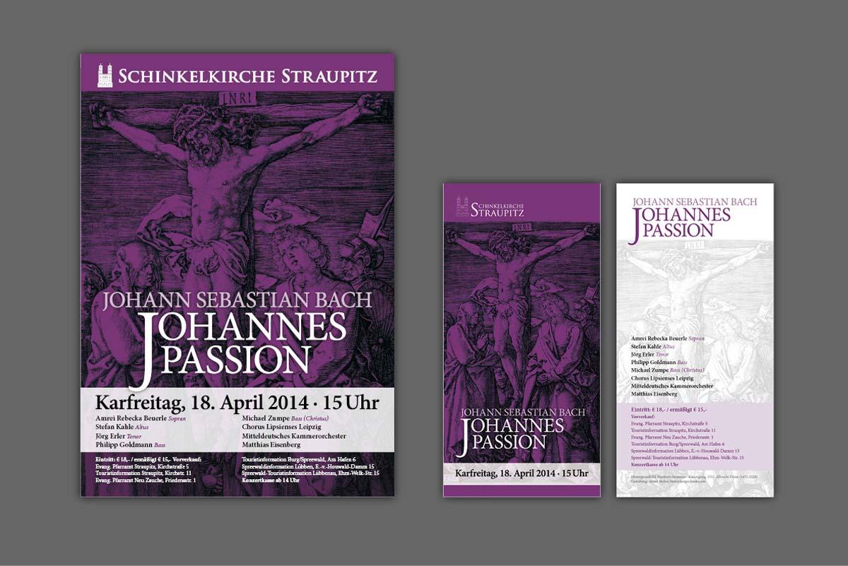 Gestaltung und Druck von Plakaten und Flyern für Konzert Matthias Eisenberg