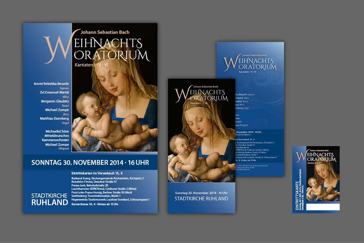 Gestaltung und Druck von Plakaten, Flyern, Eintrittskarten und Programmheft für Matthias Eisenberg