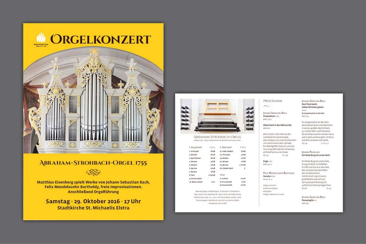 Gestaltung und Druck Plakate und Konzertprogramm für Organist Matthias Eisenberg