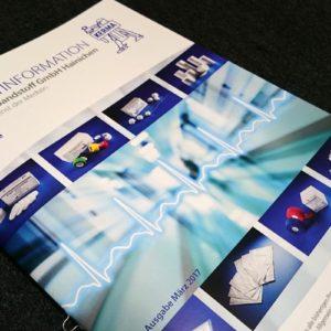 Produktbroschüre 48 Seiten für KERMA Verbandstoff GmbH Hainichen, geheftet DIN A4