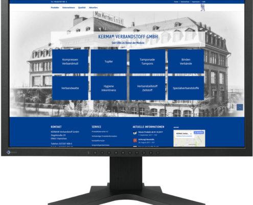 Gestaltung Website / Homepage für KERMA Verbandstoff GmbH Hainichen