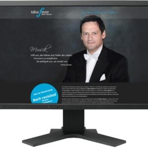 Gestaltung Website / Homepage für Pianist Tobias Forster, Dresden