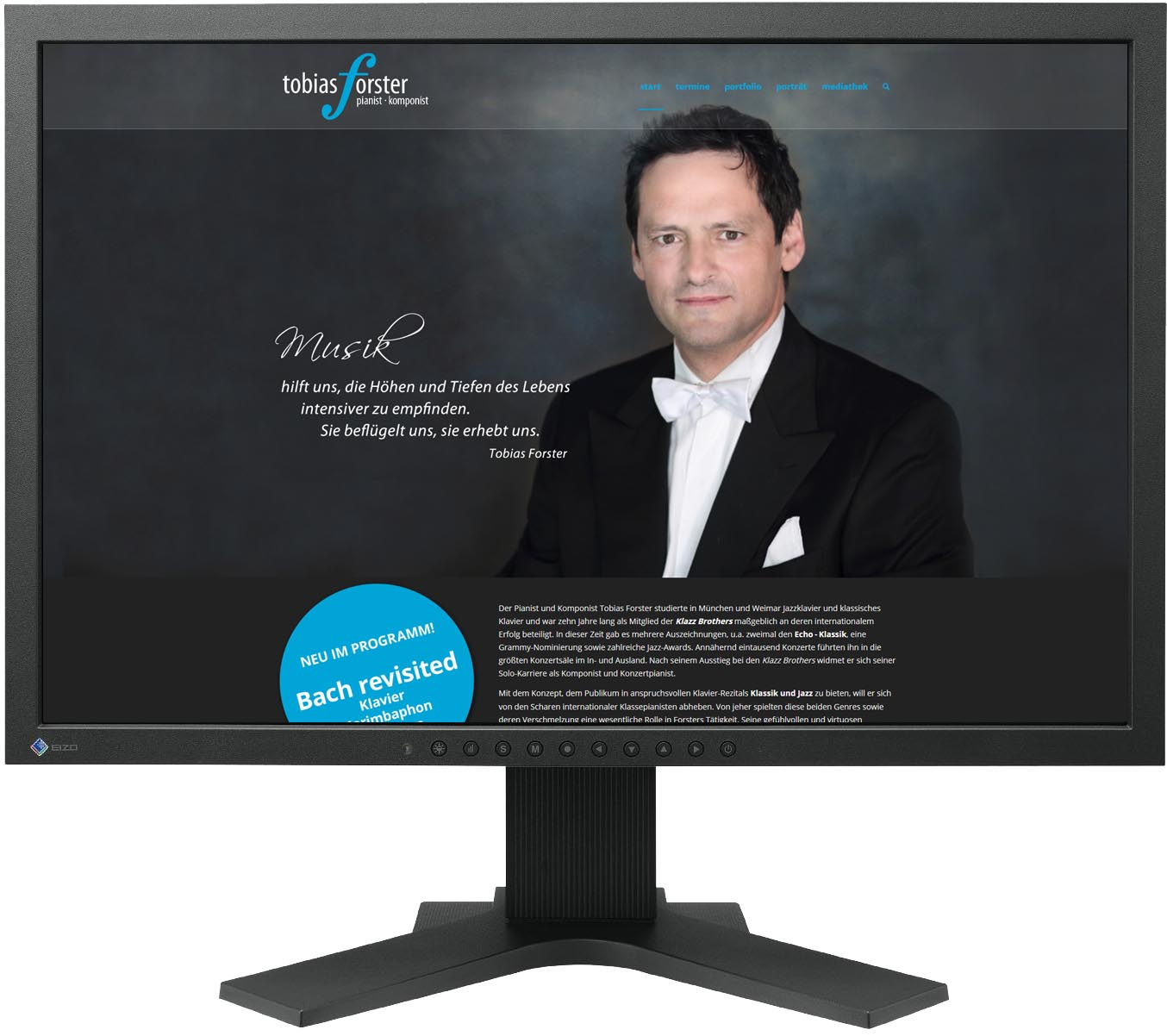 Website für Pianist Tobias Forster, Dresden