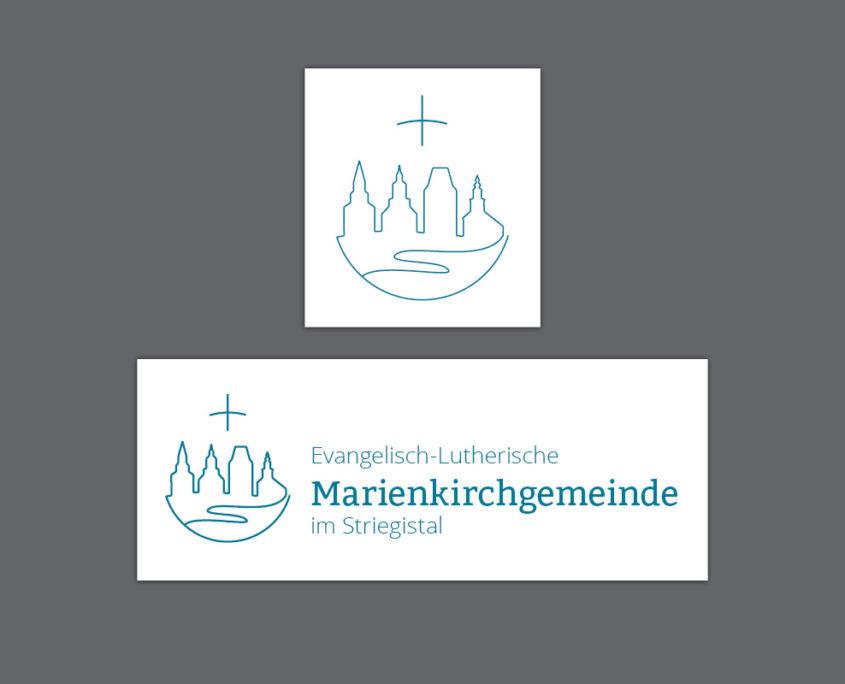 Gestaltung Logo für Marienkirchgemeinde im Striegistal