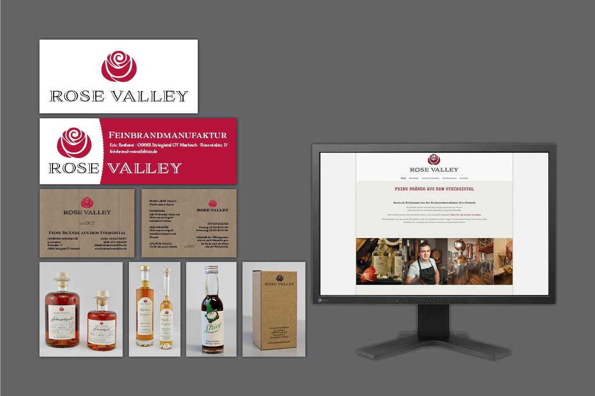 Corporate Design für Feinbrandmanukaktur Brabant Marbach: Logo, Website, Banner, Flyer, Etiketten, Verpackungen