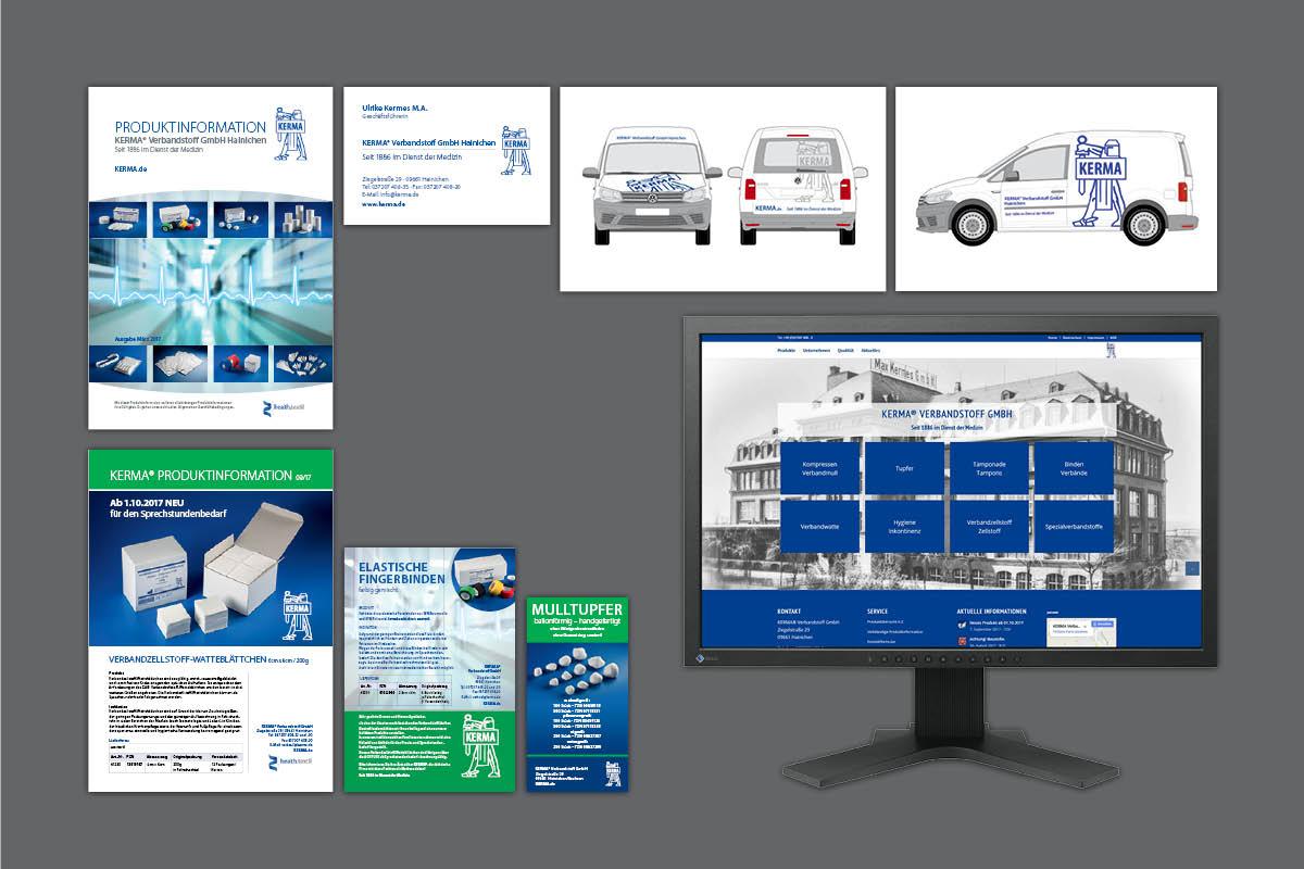 Portfolio Leistungen für KERMA Verbandstoff GmbH Hainichen