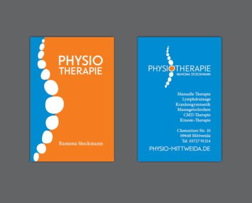 Gestaltung und Druck Visitenkarten für Physiotherapie Stockmann
