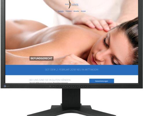 Gestaltung Website für Physiotherapiepraxis Stockmann in Mittweida