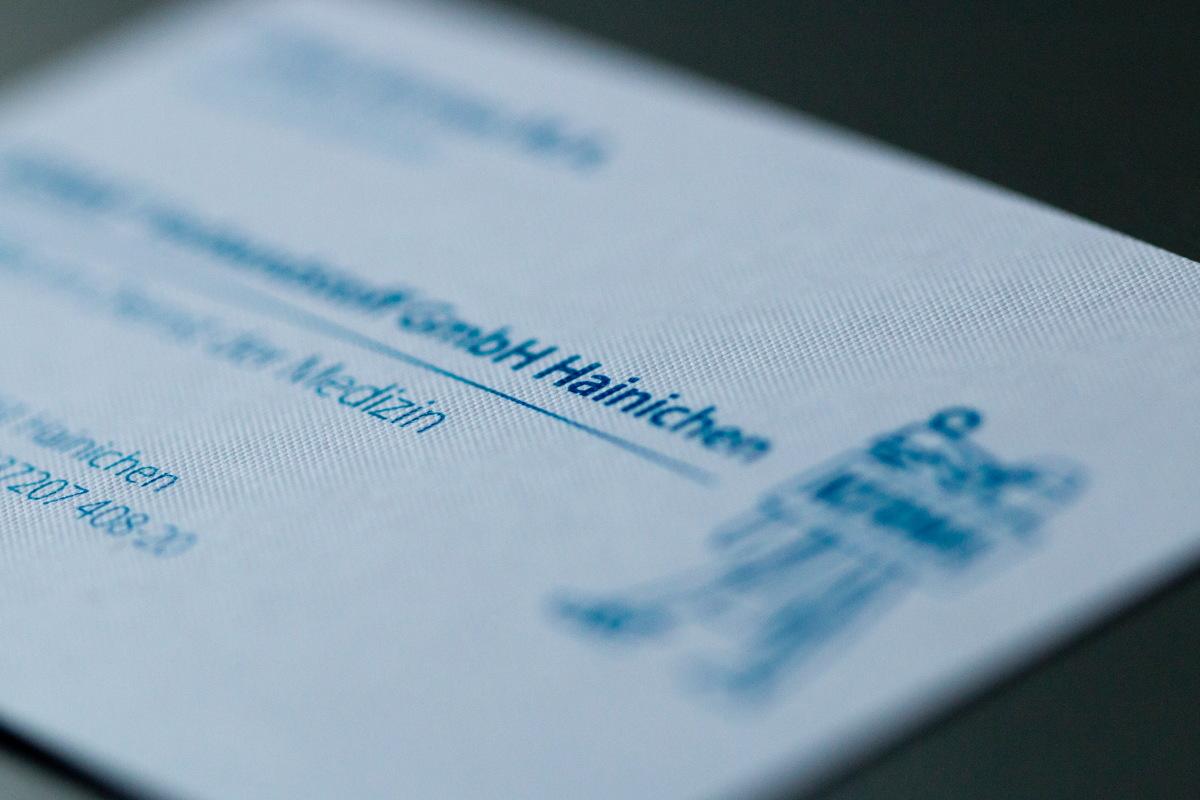 Visitenkarte aus Gmund Bee! für KERMA Verbandstoff GmbH Hainichen