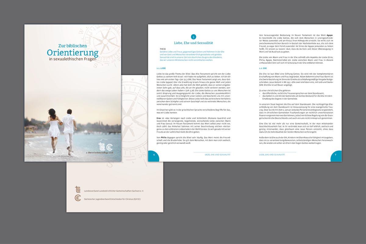 Gestaltung und Druck Broschüre DIN A 5 geheftet, 28 Seiten