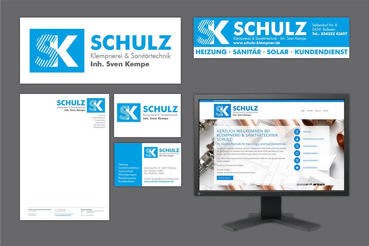Corporate Design für Klempnerei Schulz (Kempe), Roßwein-Seifersbach