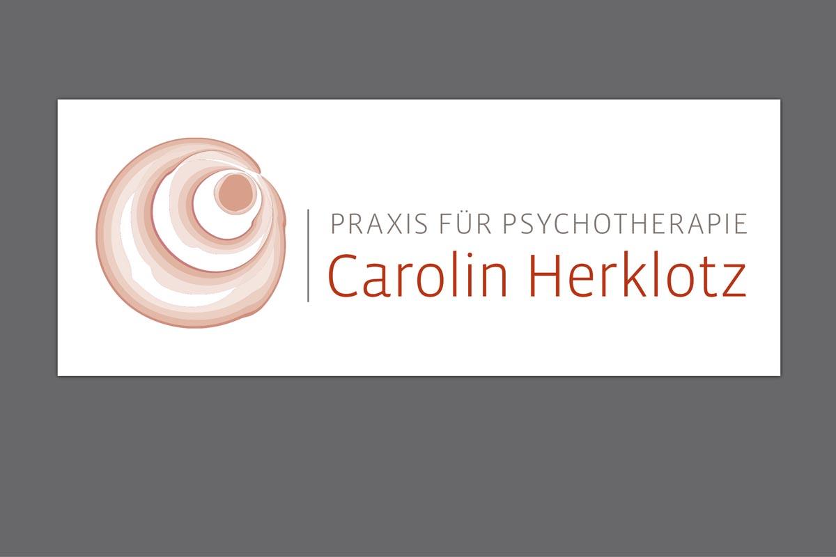 Gestaltung Logo für Psychotherapiepraxis Carolin Herzlotz, Freiberg