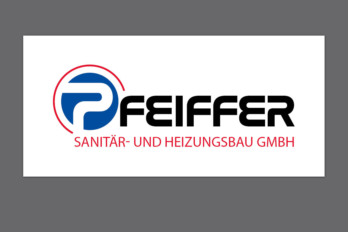 Gestaltung Logo für Pfeiffer Sanitär- und Heizungsbau GmbH Großschirma