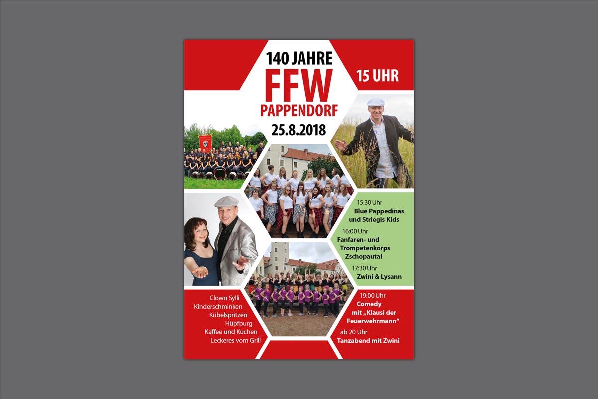Gestaltung und Druck Plakat für FFW Pappendorf