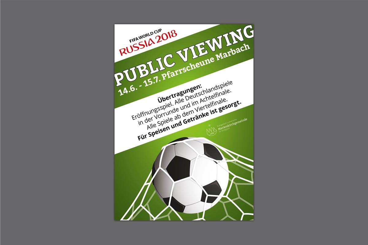 Gestaltung und Druck Plakat für Marienkirchgemeinde