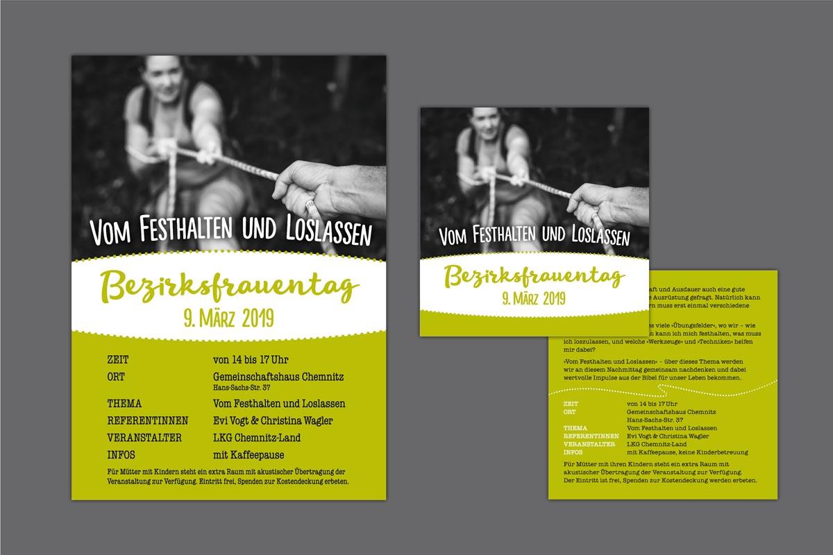 Gestaltung und Druck Plakate und Flyer für Bezirksfrauentag