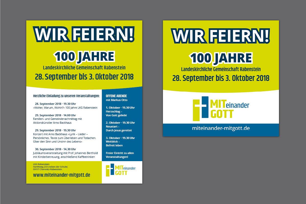 Gestaltung und Druck Plakate, Flyer und Banner für LKG Rabenstein