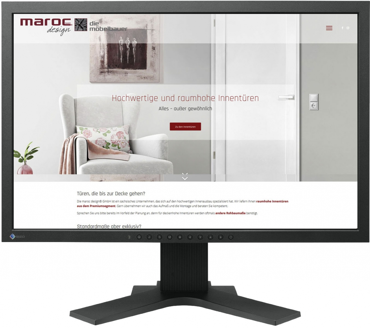 Website für marocdesign GmbH Innentüren