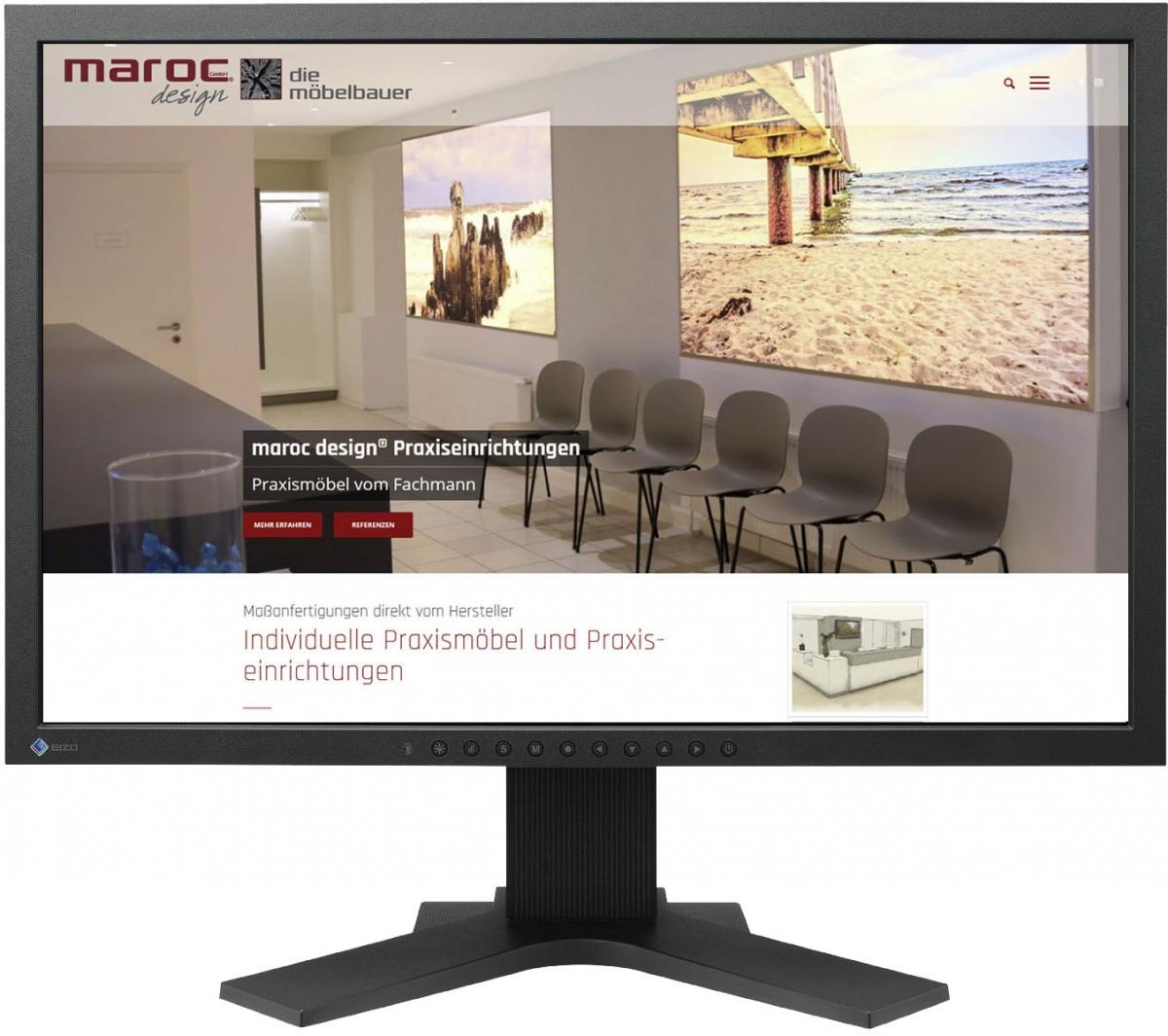 Website für marocdesign GmbH Praxiseinrichtungen