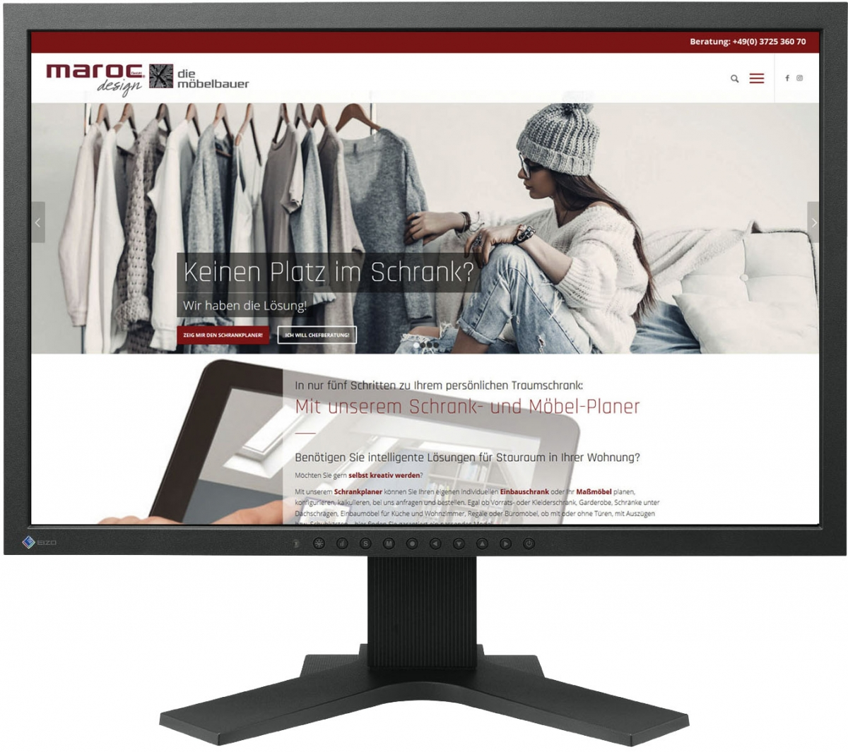 Website für marocdesign GmbH Schrankplaner
