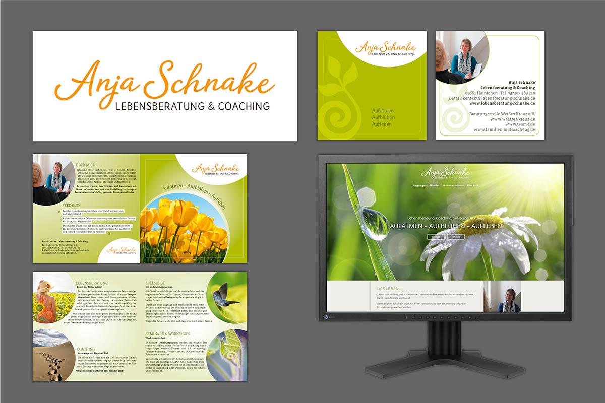 Corporate Design, Logo, Drucksachen und Website