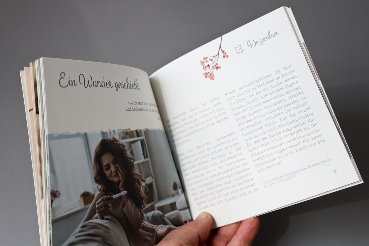 """Broschüre """"Adventskalender für Mütter"""" quadratisch, Klebebindung, MunkenPure"""