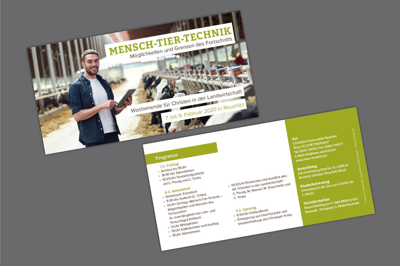 Flyer für Sächsischen Gemeinschaftsverband