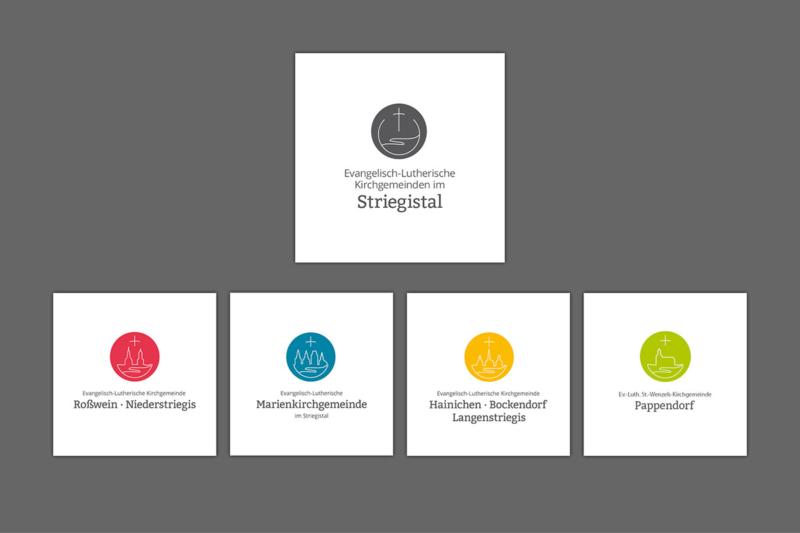 Logos mit Dachmarke für Schwesterkirchverband Striegistal