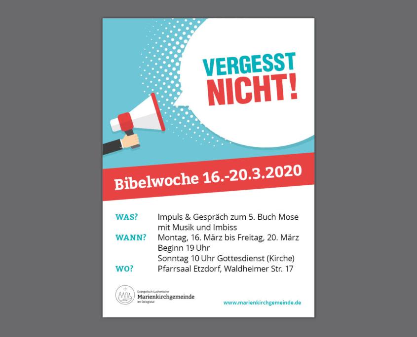 Plakat für Marienkirchgemeinde