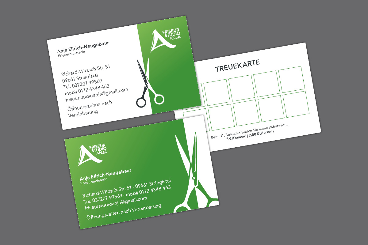 Visitenkarte Terminkarte Bonuskarte