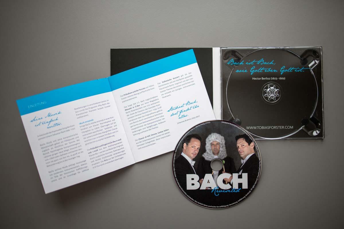 Gestaltung CD Cover, Booklet, Label für Tobias-Forster-Trio