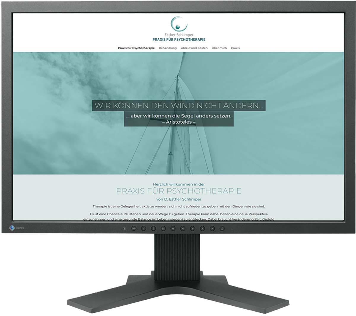 Website für Psychotherapeutin Esther Schlimper