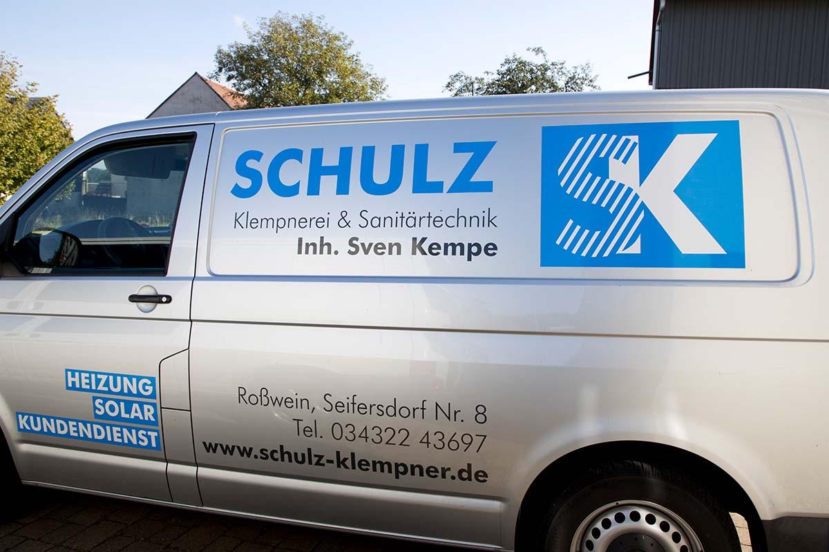 Fahrzeugbeschriftung für Klempnerei Schulz