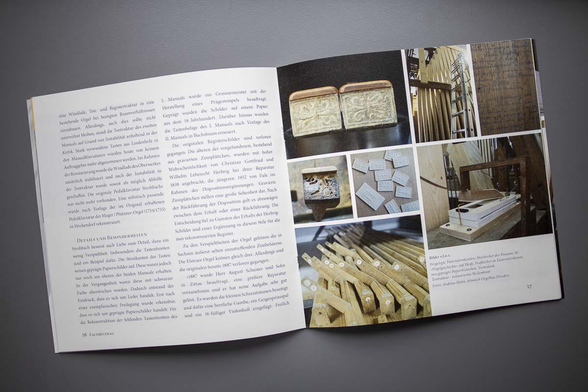 Festschrift quadratisch 28 Seiten geheftet, MunkenPure, für Abraham-Strohbach-Orgel Elstra