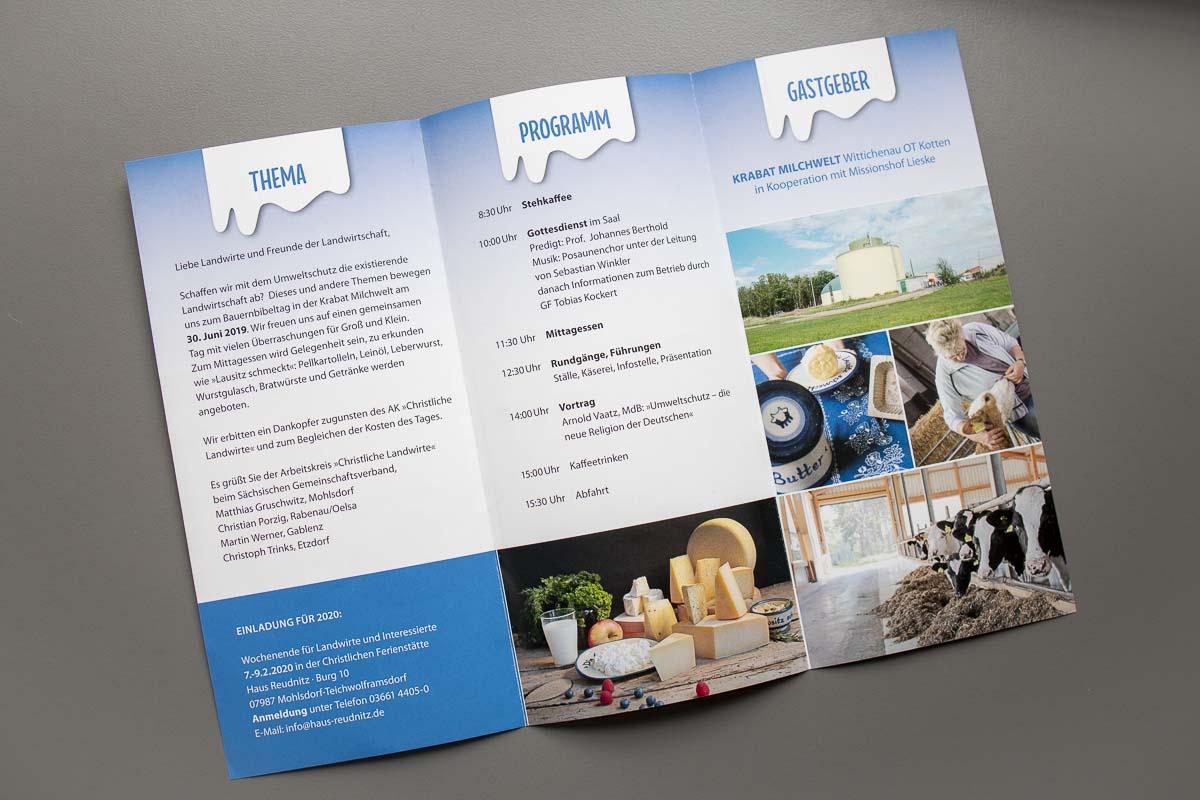 Flyer Faltblatt DIN lang 6-seitig