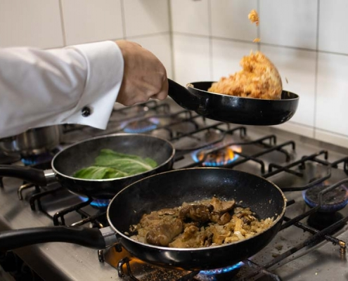 Fotografie Schmiedelandhaus Greifendorf, Speisenzubereitung