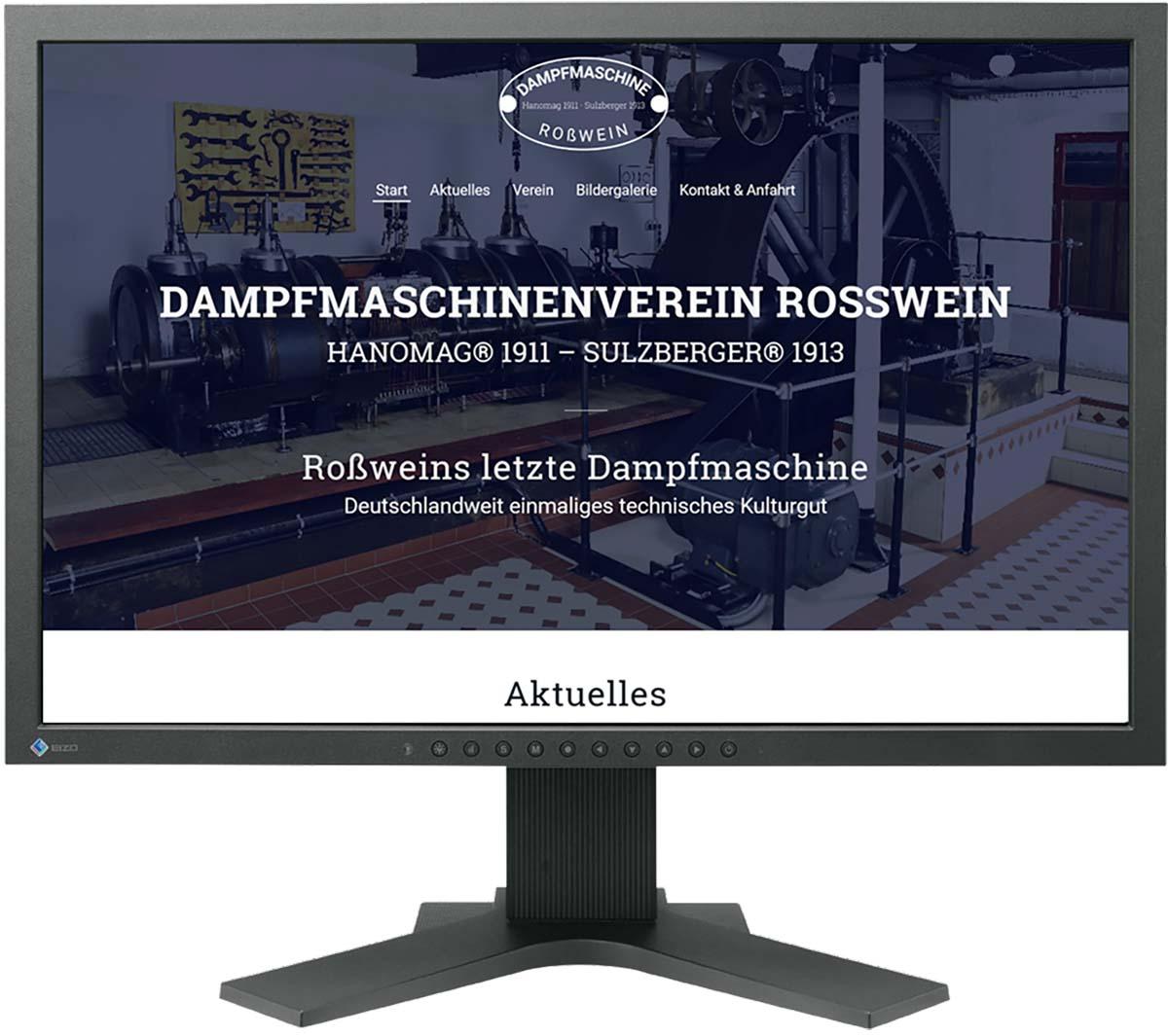 Website für Dampfmaschine Roßwein