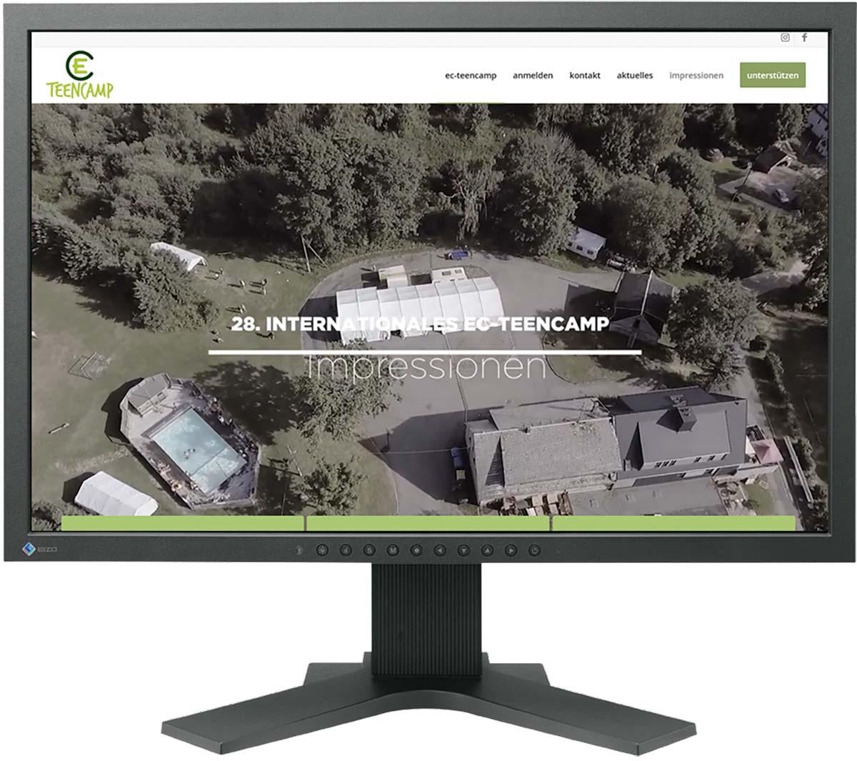 Website für EC Teencamp