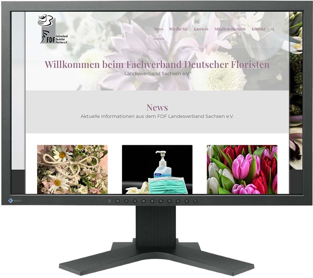 Website für Floristen Sachsen FDF